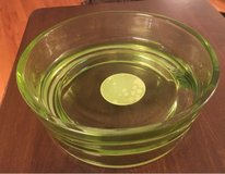 Green Glass Pet Bowl in Yorkville, Illinois
