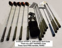 Wilson Staff II Series 4300 Left Handed Golf Clubs (RARE) & Bag in Alamogordo, New Mexico