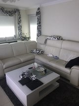 Leather white couch that cost 5,000 Euro in excellent condition still have the recite. in Ramstein, Germany