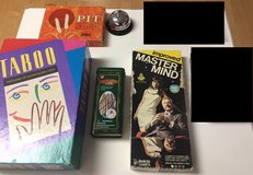 Lot of classic, family games--Taboo, Mastermind, Pit, Jacks & Pick-up Sticks in Kingwood, Texas