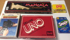 Lot of Classic Family Games: Mancala, Battleship, Uno, Swap, and Pit in Kingwood, Texas