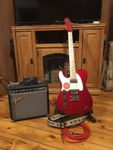 Squier left handed telecaster w/ fender amp in Alamogordo, New Mexico