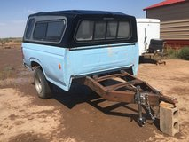 Truck bed trailer with camper shell/permanent tag in Alamogordo, New Mexico