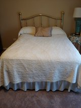 Full size mattress/box spring,headboard,skirt and spread in Westmont, Illinois