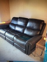 Flexsteel Double Lift Recliner Sofa--Recliner for 2 or Sofa for 3! Barely Used. Located downstate in Joliet, Illinois