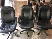 Black Executive Office Desk Chairs - 3 Available in Naperville, Illinois