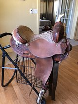 "Saddle Tex Tan 14"" Barrel racer in Yucca Valley, California"
