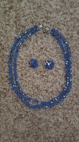 Blue Crystal Necklace w/matching earrings in Joliet, Illinois