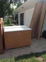Two FREE CABINETS with Formica tops in Fort Leavenworth, Kansas