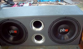 large power bass speakers with amp LOWERED PRICE in Fort Leonard Wood, Missouri