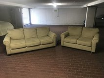 Matching Couch/Loveseat (Washable Seat Covers) MUST GO! Not enough space at next house in Stuttgart, GE