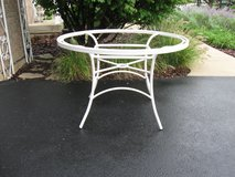 White Aluminum Patio Table-Includes Glass(not pictured) in Aurora, Illinois
