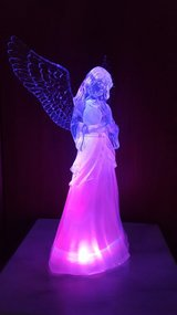LED Lighted Color Changing Praying Angel Christmas in Ramstein, Germany