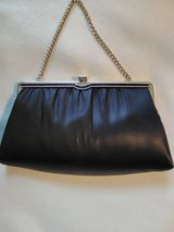 Ladies Black Satin Clutch Very Good Condition - in Bolingbrook, Illinois