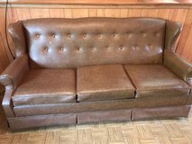 Three Cushion Couch with Pull Out Bed in Westmont, Illinois
