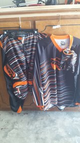 MSR Axxis riding gear set, Jersey,pants, and gloves Orange/ Black in Macon, Georgia