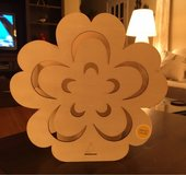 Unfinished Wooden Flower Light in Chicago, Illinois