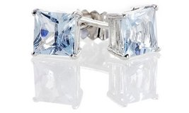 CLEARANCE ***BRAND NEW 2CTTW Princess Cut Aquamarine Earrings*** in The Woodlands, Texas