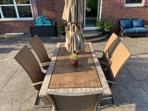 Patio Set with 6 chairs - UMBRELLA NOT INCLUDED in Westmont, Illinois
