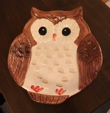 Earthenware Owl Plate in Yorkville, Illinois