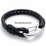 CLEARANCE ***BRAND NEW***Men's Double Braided Black Leather Bracelet*** in The Woodlands, Texas