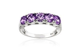 CLEARANCE ****BRAND NEW***1.25 CTTW Amethyst Half-Eternity Ring in Sterling Silver****SZ 8 in The Woodlands, Texas