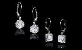 CLEARANCE **BRAND NEW***Halo Drop Earrings Set Made With Swarovski Stones*** in Kingwood, Texas