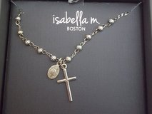 Isabella M Boston Sterling Silver Cross Necklace in Naperville, Illinois