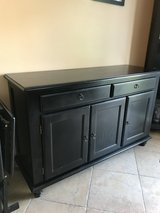 Solid Wood Antique Black Buffet in Chicago, Illinois