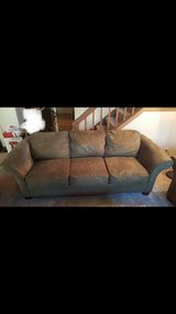 couch and sofa set dark olive green in Bolingbrook, Illinois