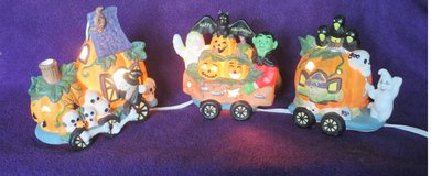 Halloween Ceramic Lighted Train in Westmont, Illinois