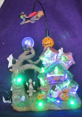 Halloween LED Village with Flying Witch in Westmont, Illinois