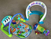Fisher price kick and play piano & bright beats smart touch in Batavia, Illinois