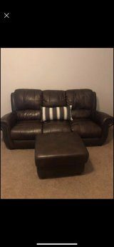 Brown Leather Couch Set in The Woodlands, Texas