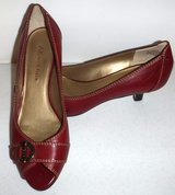 Sz: 7M Anne Klein Leather Oxblood Heels / Pumps in Orland Park, Illinois