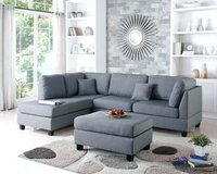 New urban comfy grey sofa chaise sectional with storage ottoman in Camp Pendleton, California