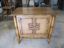 Vintage Thomasville (1976) End Table/Bedside Table with Bamboo &Caning in Chicago, Illinois
