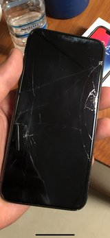 iPhone X cracked front and back in Okinawa, Japan