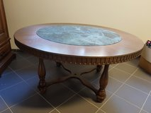 Solid wooden table with marble in Ramstein, Germany