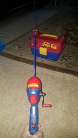 Spiderman youth fishing pole & tackle box in Westmont, Illinois