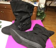 Women's Black Suede Boots in Naperville, Illinois