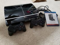 PS3 80G Backwards Compatible system with 2 controllers and 7 games in Camp Lejeune, North Carolina