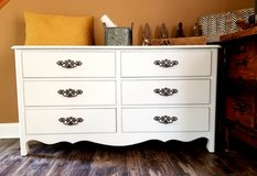 Refinished solid wood dresser in Westmont, Illinois