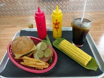 Car hop tray with food in Plainfield, Illinois