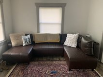 Faux Leather Couch in Fort Lewis, Washington