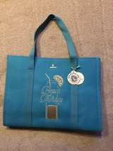 """New Spartina 449 """"Beach Therapy"""" Embroidered Carry-All Tote Teal in St. Charles, Illinois"""