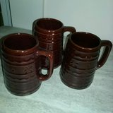 3 Vintage MarCrest Daisy Dot Stoneware Beer Mugs in Conroe, Texas