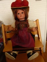 Black Forest costume doll 64 cm tall  Traditional costume with hat in Stuttgart, GE