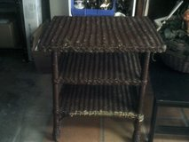 Wicker three tier brown stand in Alamogordo, New Mexico