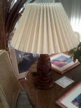 Lamp, carved wood in Alamogordo, New Mexico